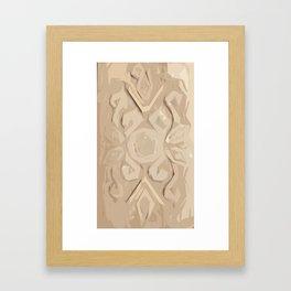 Ukrainian Carving Cutout Pine Wood Framed Art Print