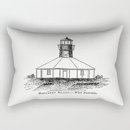 Breaksea Island West Australia from Circular relating to Lighthouses Lightships Buoys and Beacons (1 Rectangular Pillow