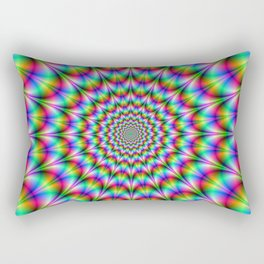 Psychedelic Explosion Rectangular Pillow
