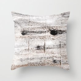 Ghost white abstract watercolor Throw Pillow