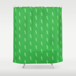 Leaves / stick / branch / line dotted pattern nature Shower Curtain