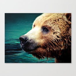 HAPPY GRIZZLY Canvas Print