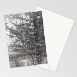 Soft snow falling Stationery Cards