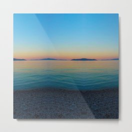 Sunset Greek Island Metal Print