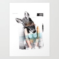 pin up Art Prints featuring Pin-up by Blond&Bleek