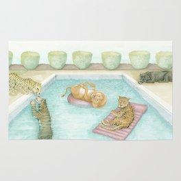 Big Cat Pool Party Rug