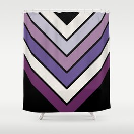 Purple Night Bloom Chevron Shower Curtain