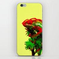 rasta iPhone & iPod Skins featuring Rasta Chameleon by Gira Patel