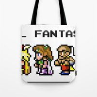 final fantasy Tote Bags featuring Final Fantasy II Characters by Nerd Stuff