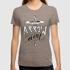 The Heart is an Arrow Tri-Coffee MEDIUM Womens Fitted Tee