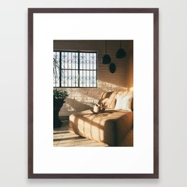 Afternoon sun in apartment in Puerto Vallarta, Mexico Framed Art Print