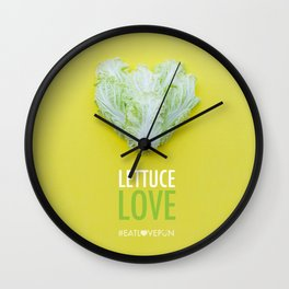 Lettuce Love Wall Clock
