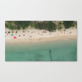 Aerial Secret Beach Koh Phangan Thailand Canvas Print