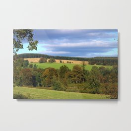 A Rural View in Dumfries and Galloway Metal Print