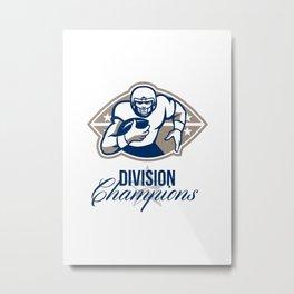 American Football Runningback Division Champions Metal Print