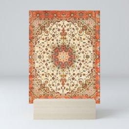 N71 - Orange Antique Heritage Traditional Moroccan Style Mandala Artwork Mini Art Print