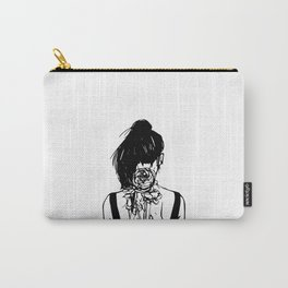 Aesthetics: Graphic-flowers Carry-All Pouch