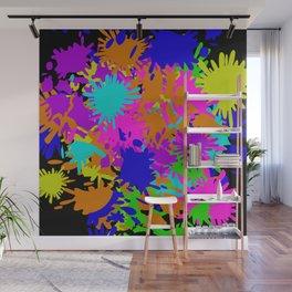 Splatoon Ink Fight Pattern Wall Mural