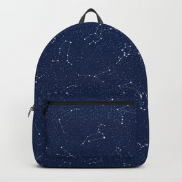 Zodiac Constellations with a Dark Blue Starry Sky Backpack