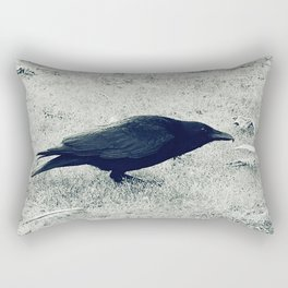 dark crow Rectangular Pillow