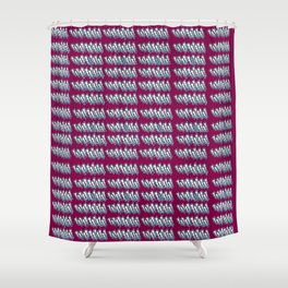 Lightning in Red Shower Curtain