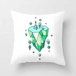 Little Emerald World Throw Pillow
