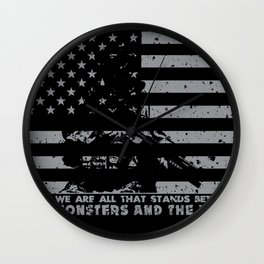 The Monsters And The Weak - US Army Veteran Wall Clock