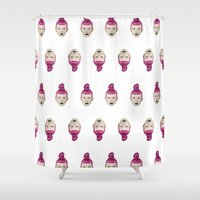 ufo Shower Curtains featuring UFO by Cannibal Malabar