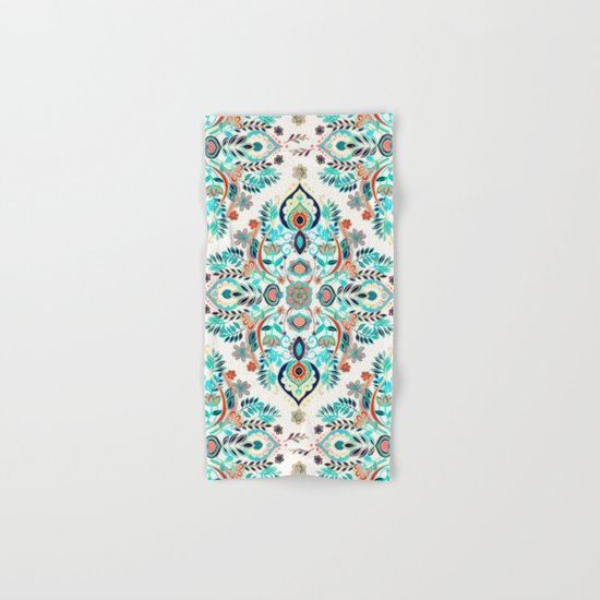 Modern Folk in Jewel Colors Hand & Bath Towel