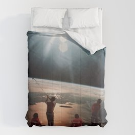 Golfers In Space Comforters