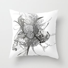 50 shades of lace Grey Silver Throw Pillow
