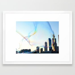 Chicago in a Bubble Framed Art Print