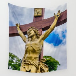 Crucifixion of Jesus Wall Tapestry