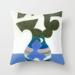 Moonlight Mystery Vase Throw Pillow