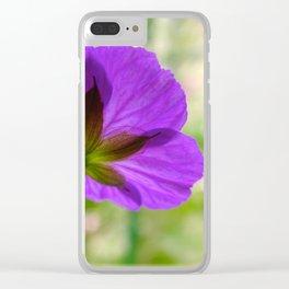 'Mayflower' Geranium Clear iPhone Case