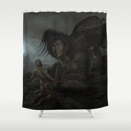 Judgment of the Sphinx Shower Curtain