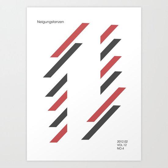 neigungstanzen Art Print