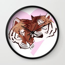 Tigers In Love Wall Clock