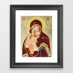 Mary, Mother of God Framed Art Print