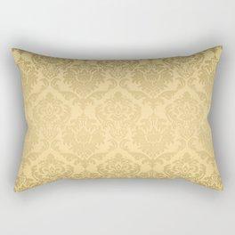Gold tones floral damasks pattern Rectangular Pillow