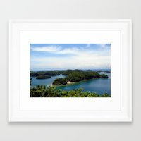 philippines Framed Art Prints featuring Hundred Islands, Philippines 01 by berrygoochampagne