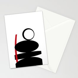 Black and white meets red Version 39 Stationery Cards