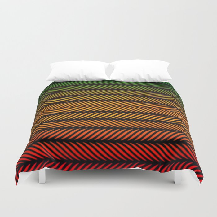 Earth Sun Blood Duvet Cover