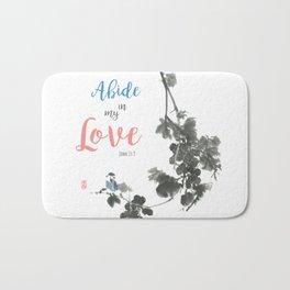 Abide in my Love Bath Mat