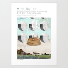 50th anniversary of the city of Brazil Art Print