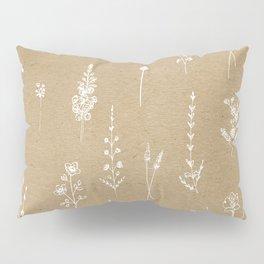Wildflowers kraft Pillow Sham