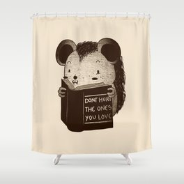 Hedgehog Book Don't Hurt The Ones You Love Shower Curtain