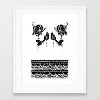 doom Framed Art Prints featuring DOOM by Ichsjah