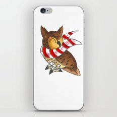 Cozy Christmas Owl iPhone Skin