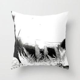 ice feather Throw Pillow